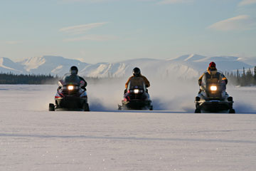 Snowmobile routes Russian Lapland