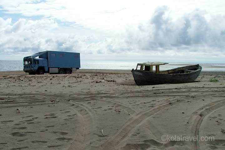 4x4 Camper / truck off-road on Kola Peninsula, Murmansk region