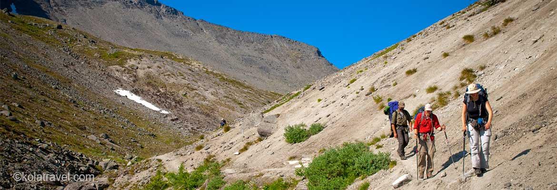 Backpack trekkings and hiking tours on Kola Peninsula Northwest Russia