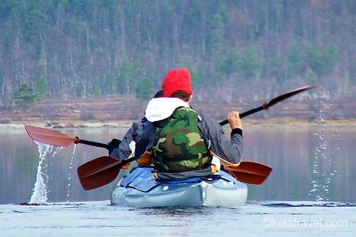 kola peninsula monchegorsk imandra lake kayaking excursion russian lapland